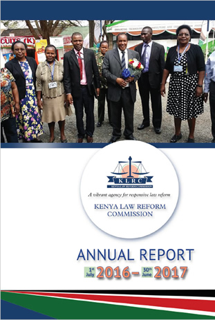 Kenya Law Reform Commission KLRC Annual Report 2016 17