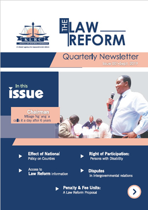 the law reform newsletter cover